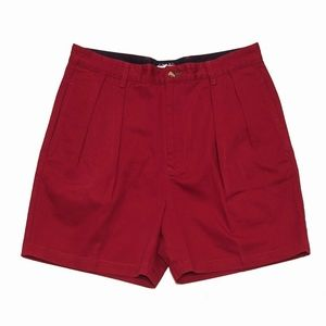 Men's Tommy Hilfiger Pleated Shorts 34 red